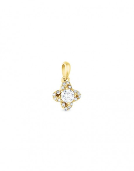 "Pendentif diamants sertis grains ""Caja"""