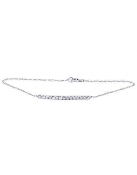 "Bracelet barrette ""Noblesse"" sertie diamants"