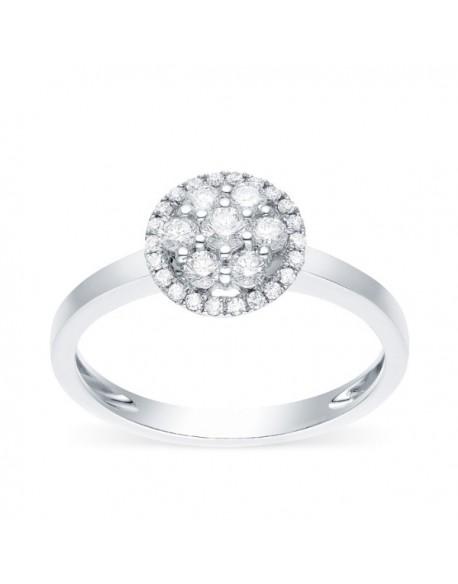 """Bague multi-pierres diamants entourages de diamants """"Cisca"""""""